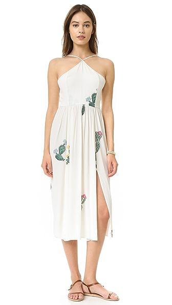 Wildfox Cactus Flower Back Tie Dress