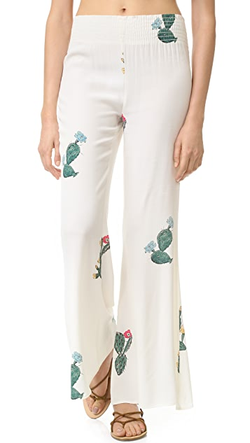 Wildfox Cactus Flower Bell Bottom Pants
