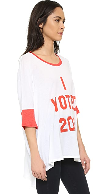 Wildfox I Voted Oversized Tee