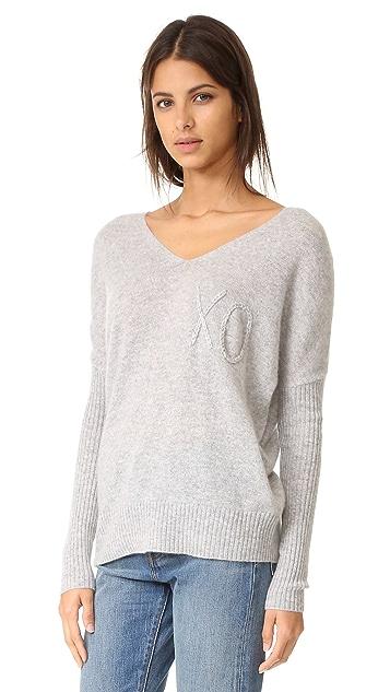 Wildfox XO Embroidery Cashmere Sweater