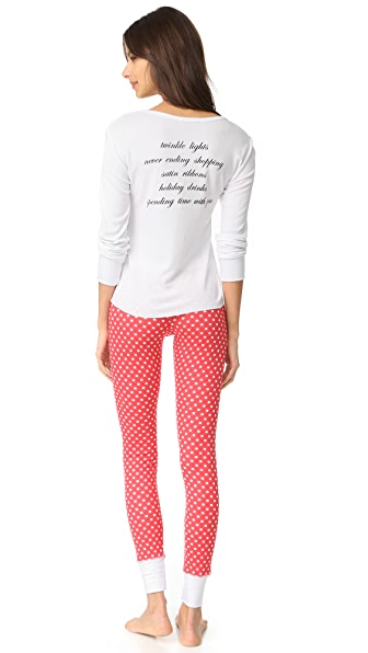 Wildfox Holiday Favorites PJ Set