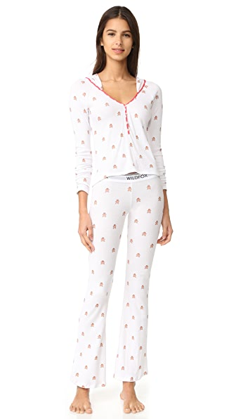 Wildfox Raining Gingerbread PJ Set