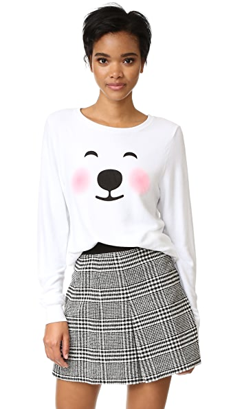 Wildfox Polar Bear Emoji Sweatshirt