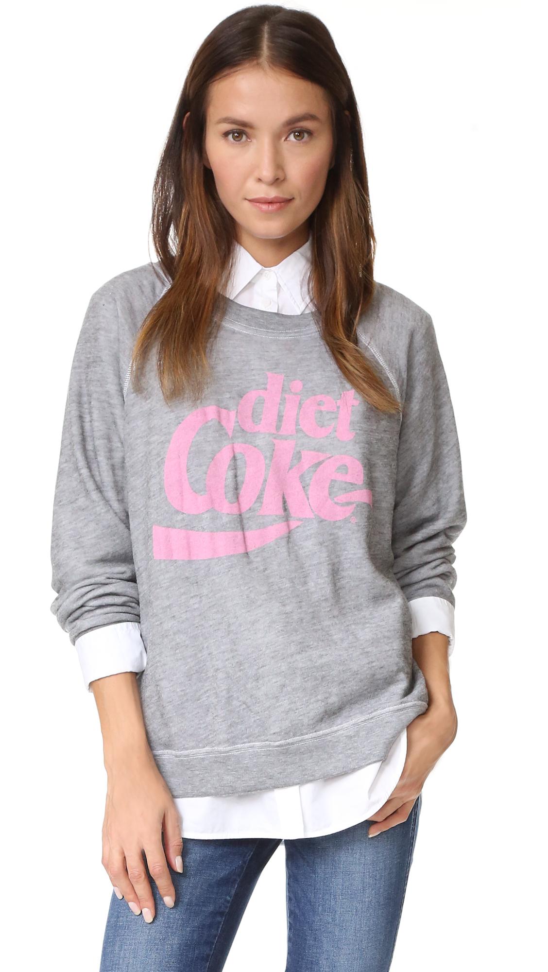 Wildfox Diet Coke Sweatshirt In Heather Burnout