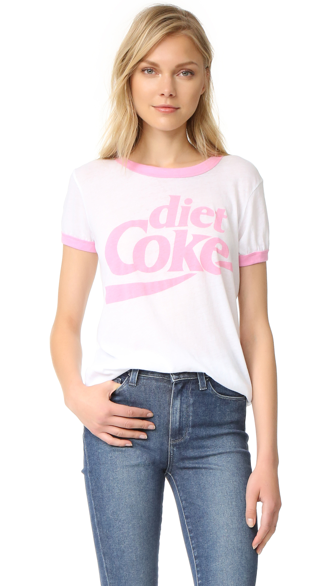 Wildfox Diet Coke Tee In Clean White/Dream House
