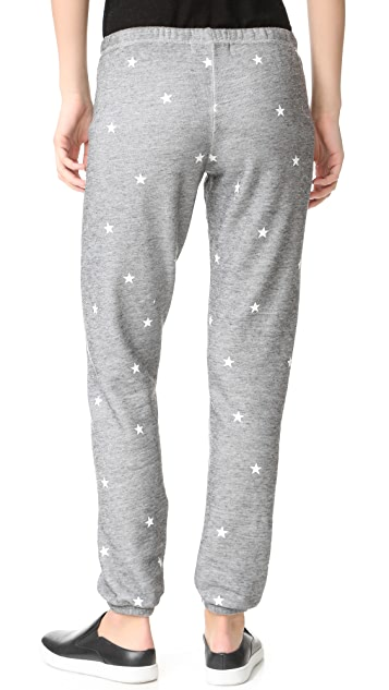 Wildfox Football Star Burnout Fleece Sweats