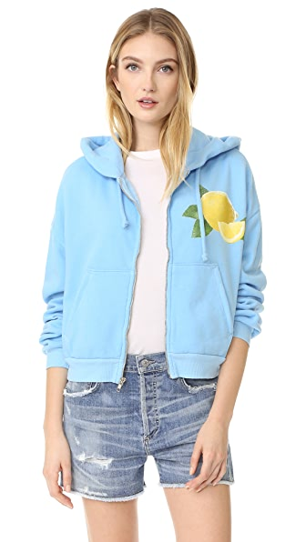 Wildfox Lemonade Zip Up Hoodie