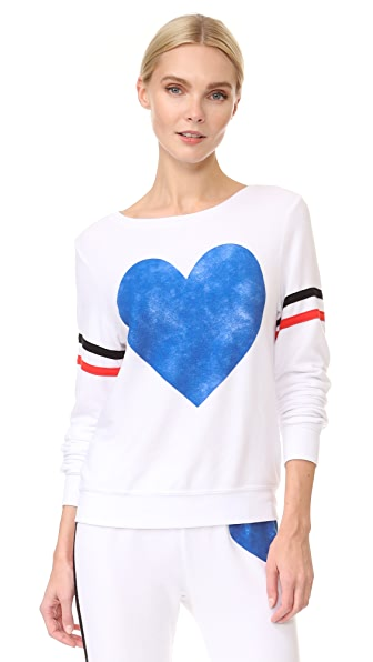 Wildfox Classic Heart Sweatshirt