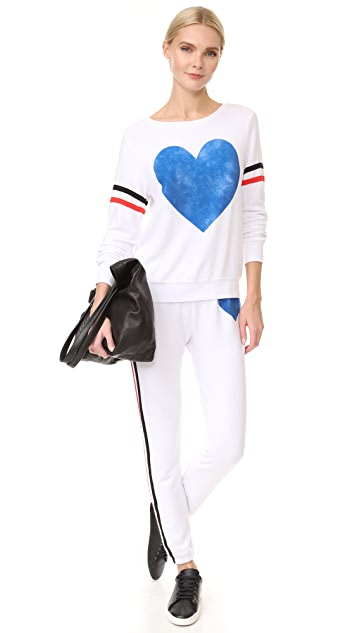 Wildfox Classic Heart Bottoms Sweats