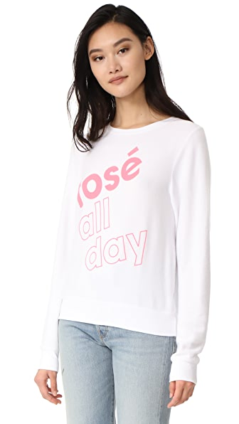 Wildfox More Rose Sweatshirt