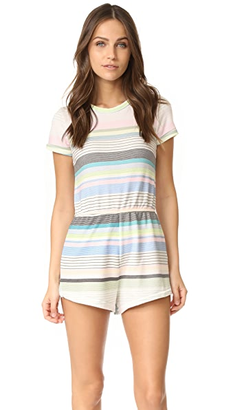 Wildfox Beach Towel Stripe Romper - Multi
