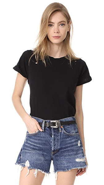 Wildfox Destroyed Heights Crew Tee