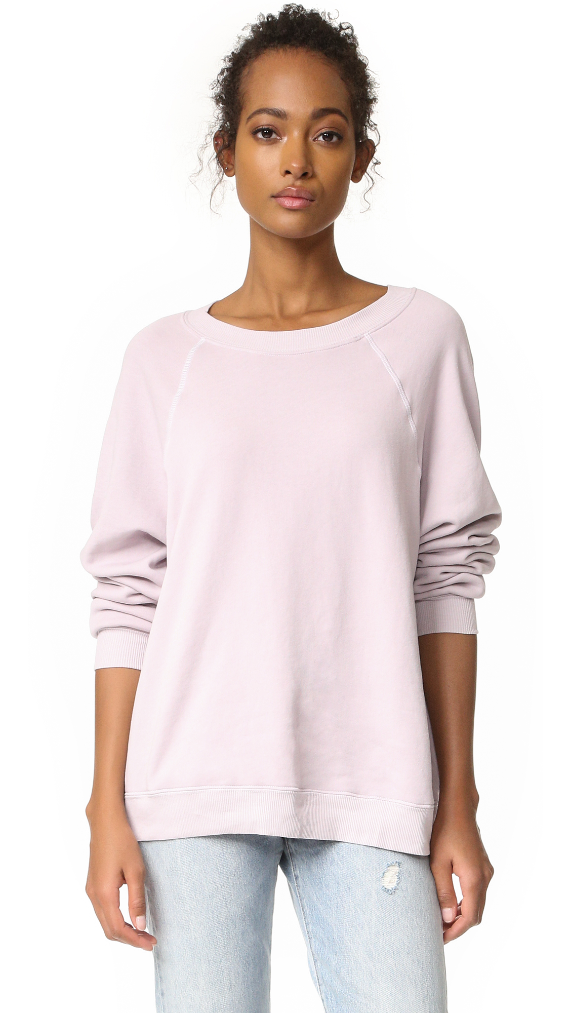 Wildfox Sommers Sweatshirt In Lilac Dawn