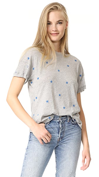 Wildfox Football Star Tee - Heather Grey