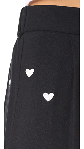 Wildfox Holly Hearts Trousers