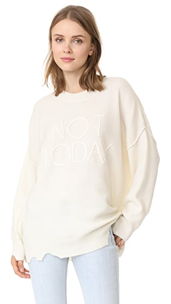 Wildfox Not Today Omen Sweater - Vintage Lace