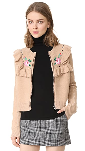 Wildfox Bed of Roses Elliot Jacket Cardigan - Desert Dunes