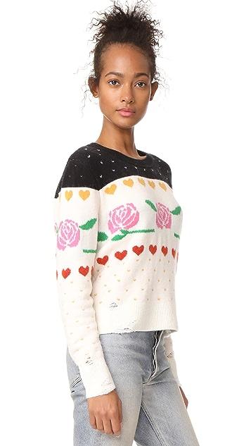 Wildfox Rose Fair Isle Shining Sweater