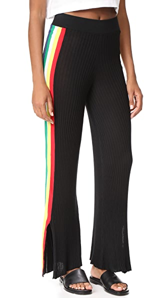 Wildfox Alaya Racing Stripe Pants