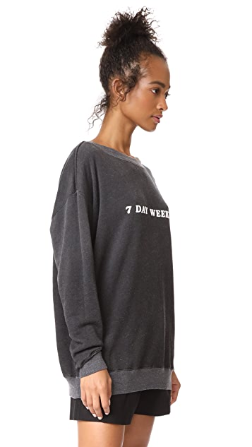 Wildfox 7 Day Weekend Roadtrip Sweatshirt