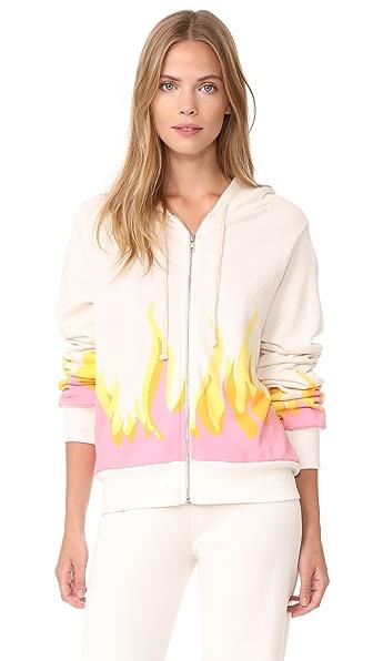 Wildfox Wildfire Prescott Zip Hoodie - Vintage Lace