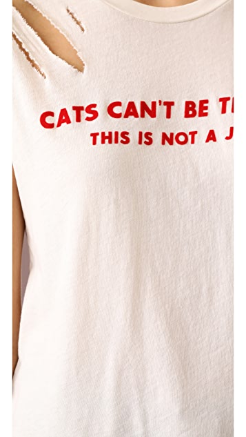 Wildfox Cats Can't Be Trusted Thrashed NO9 Tee