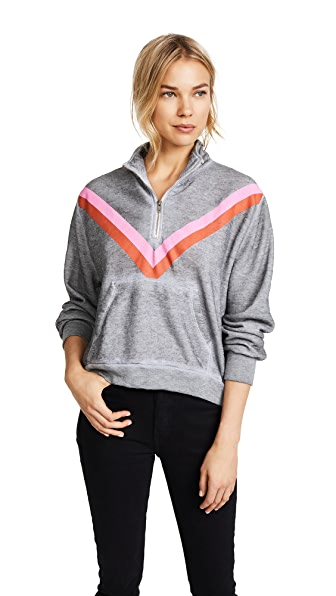 Wildfox Sweetheart Track Stripe Jacket In Heather