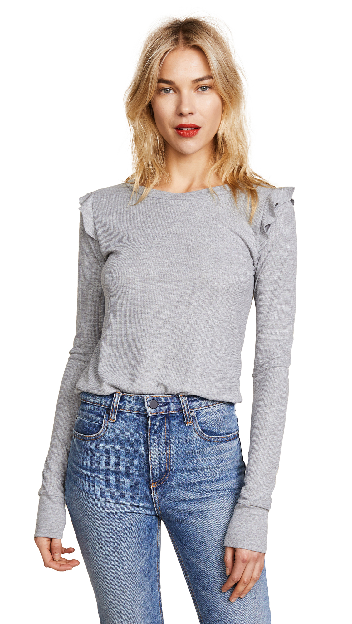 Wildfox Medley Long Sleeve Tee In Heather