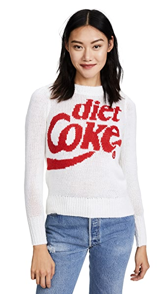 Wildfox Diet Coke Lou Sweater In Red Line