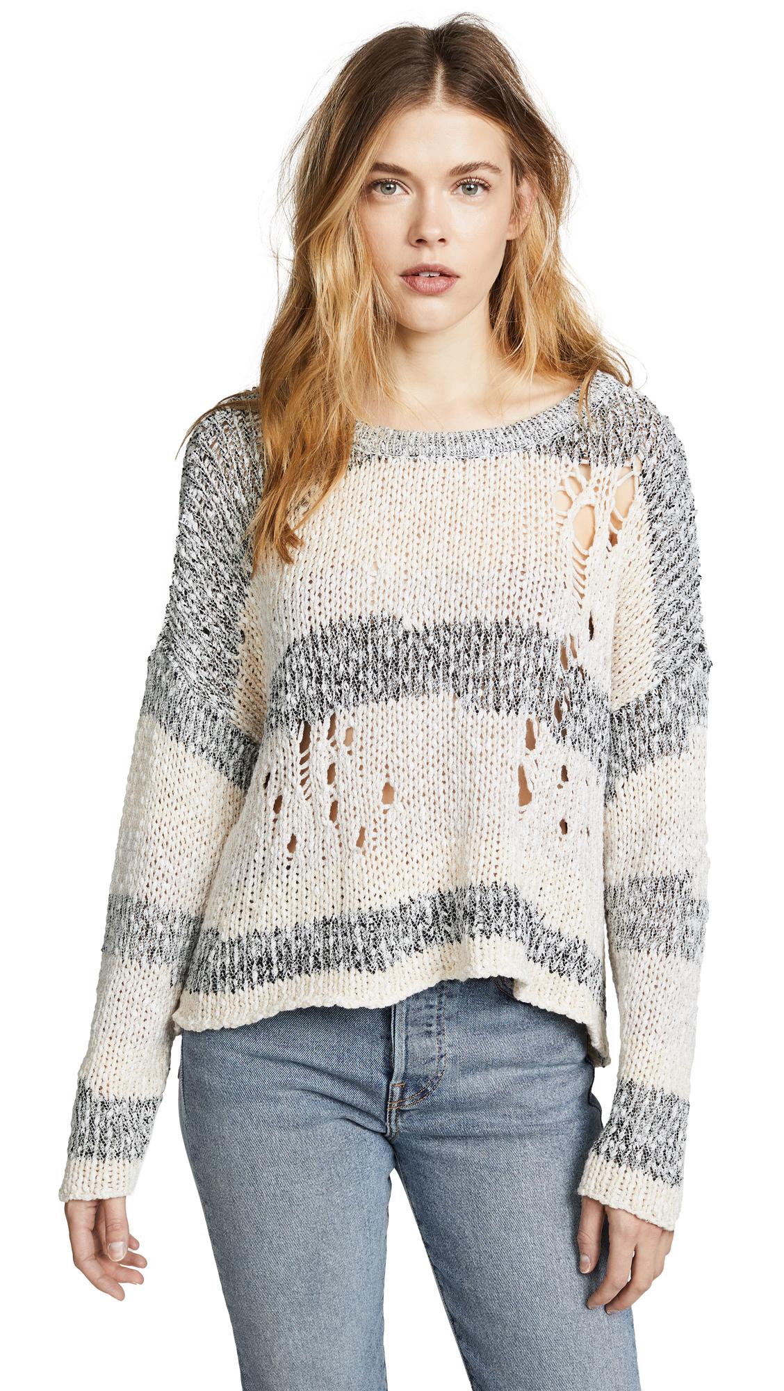 Wildfox Deconstructed Stripe Sweater