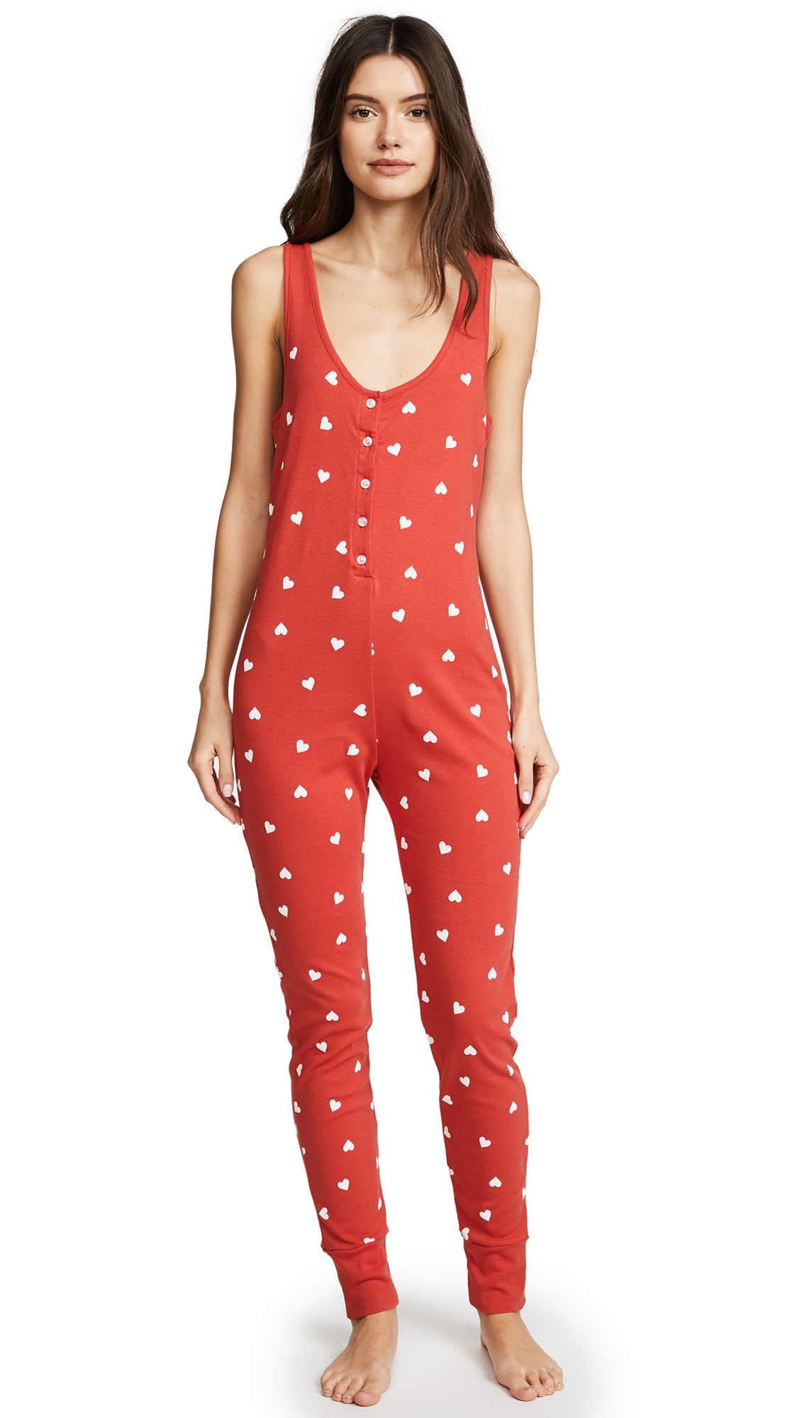 Wildfox Falling Hearts Jumpsuit