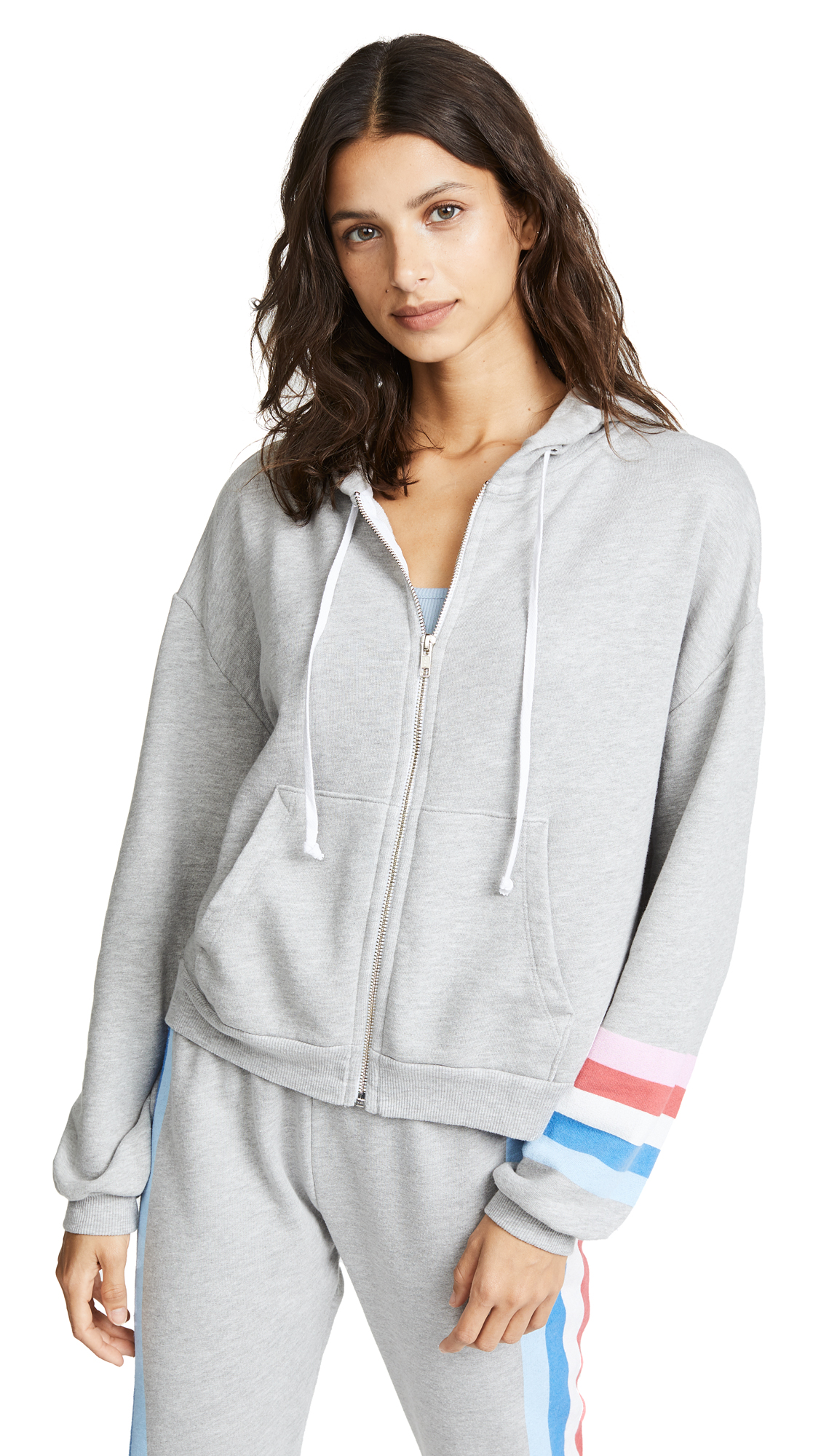 Wildfox Spectrum Marquis Zip Hoodie In Heather