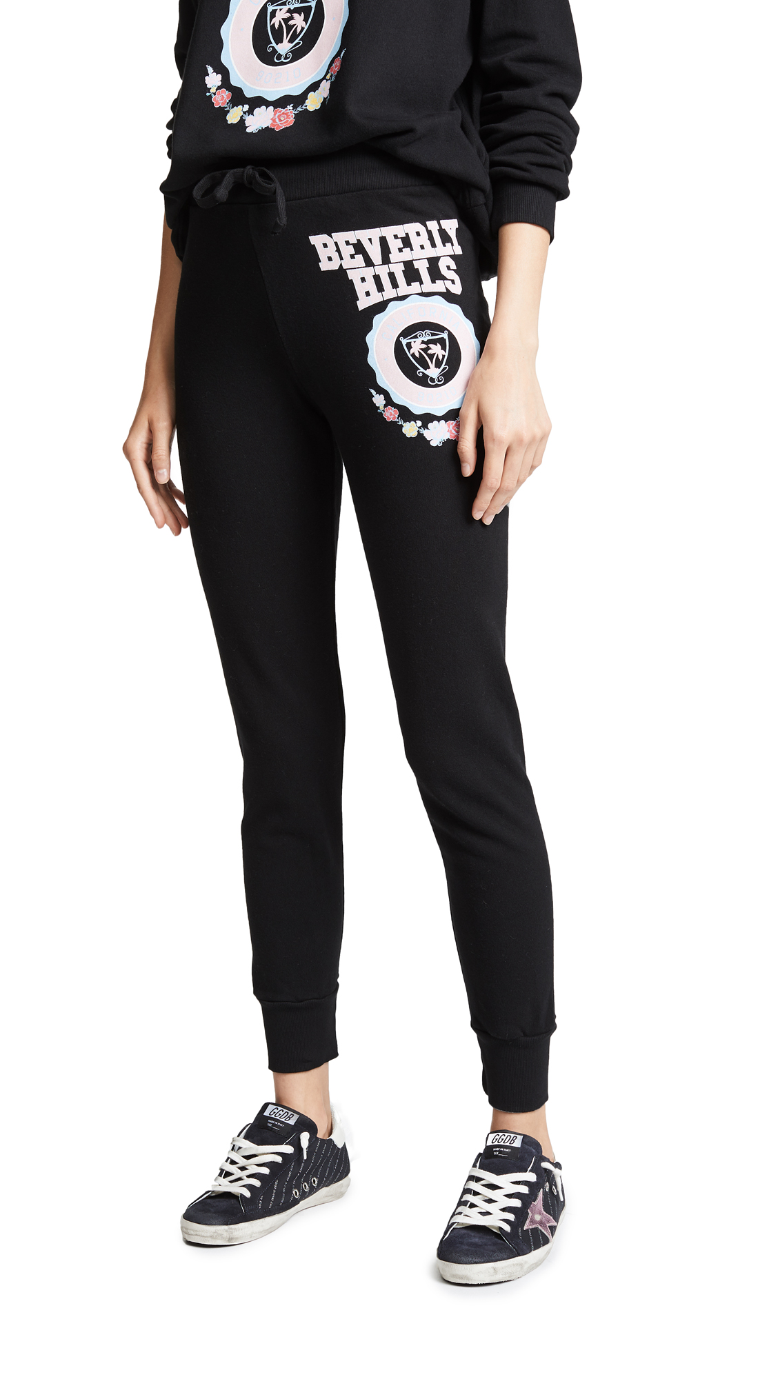 Wildfox Beverly Hills Crest Jack Sweatpants In Clean Black