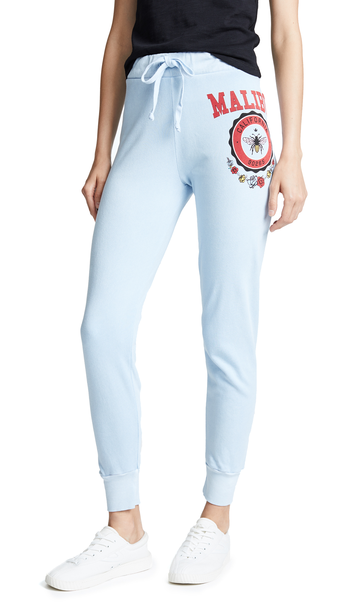 Wildfox Malibu Crest Jack Jogger Pants In Pigment Saddle Blue