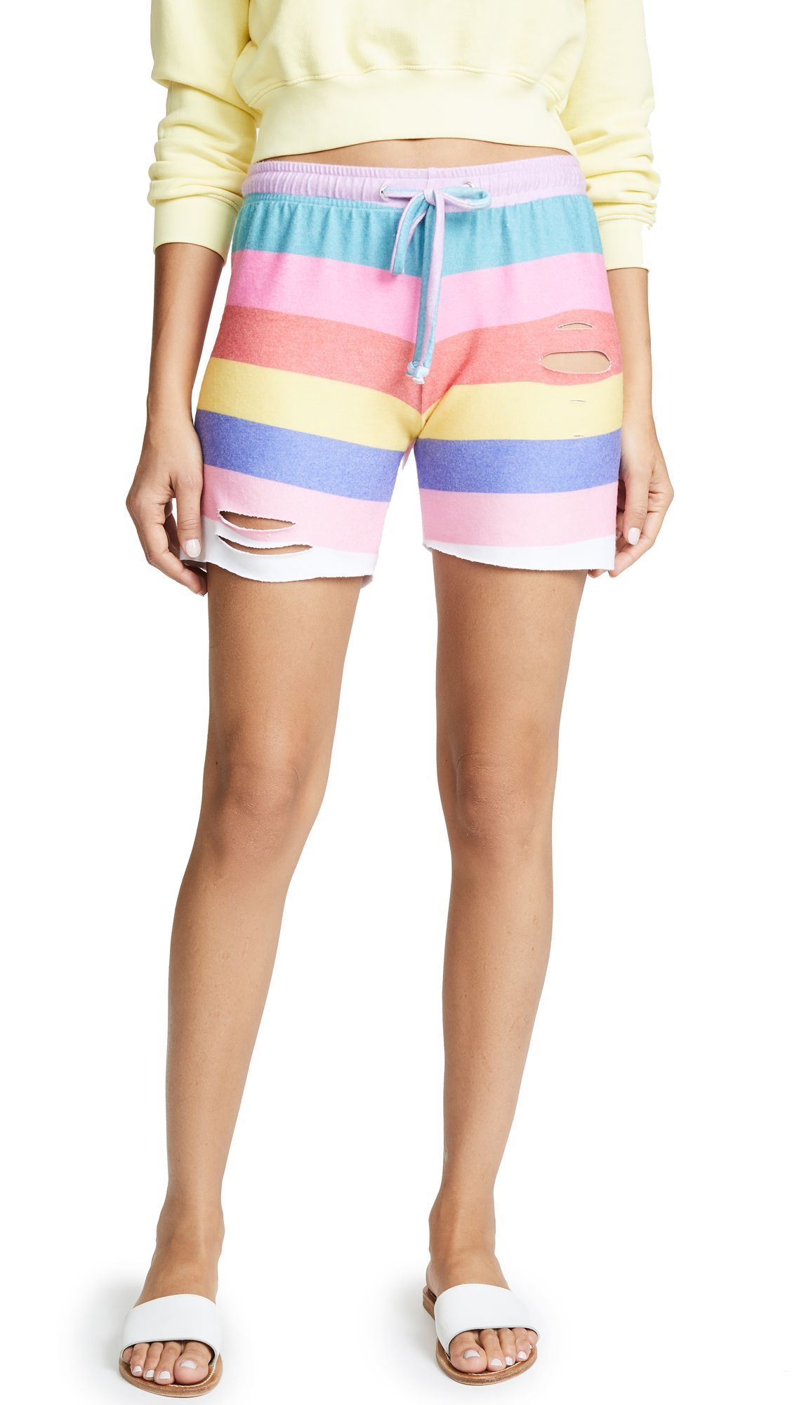 Wildfox Castaway Stripe Shorts In Multi