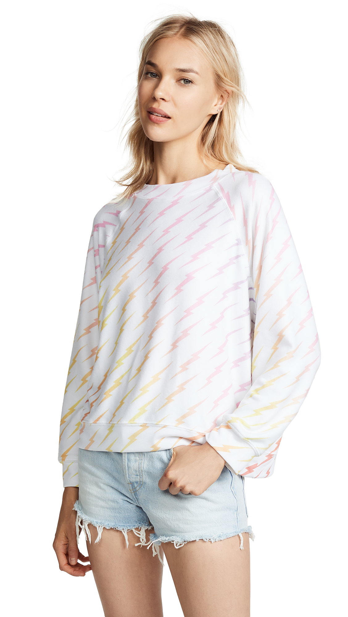 Wildfox Bolt Gradient Sommers Sweater In Multi
