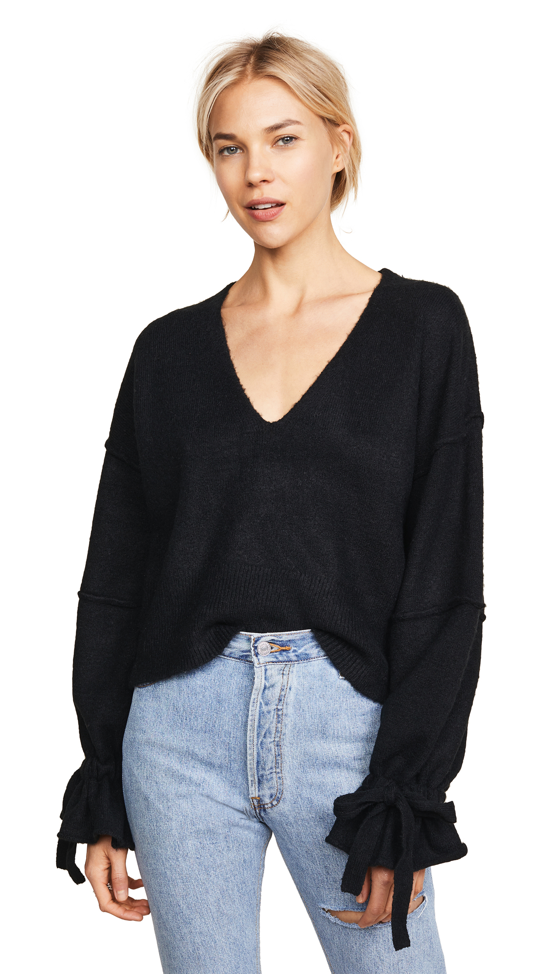 Wildfox Oracle Sweater In Clean Black