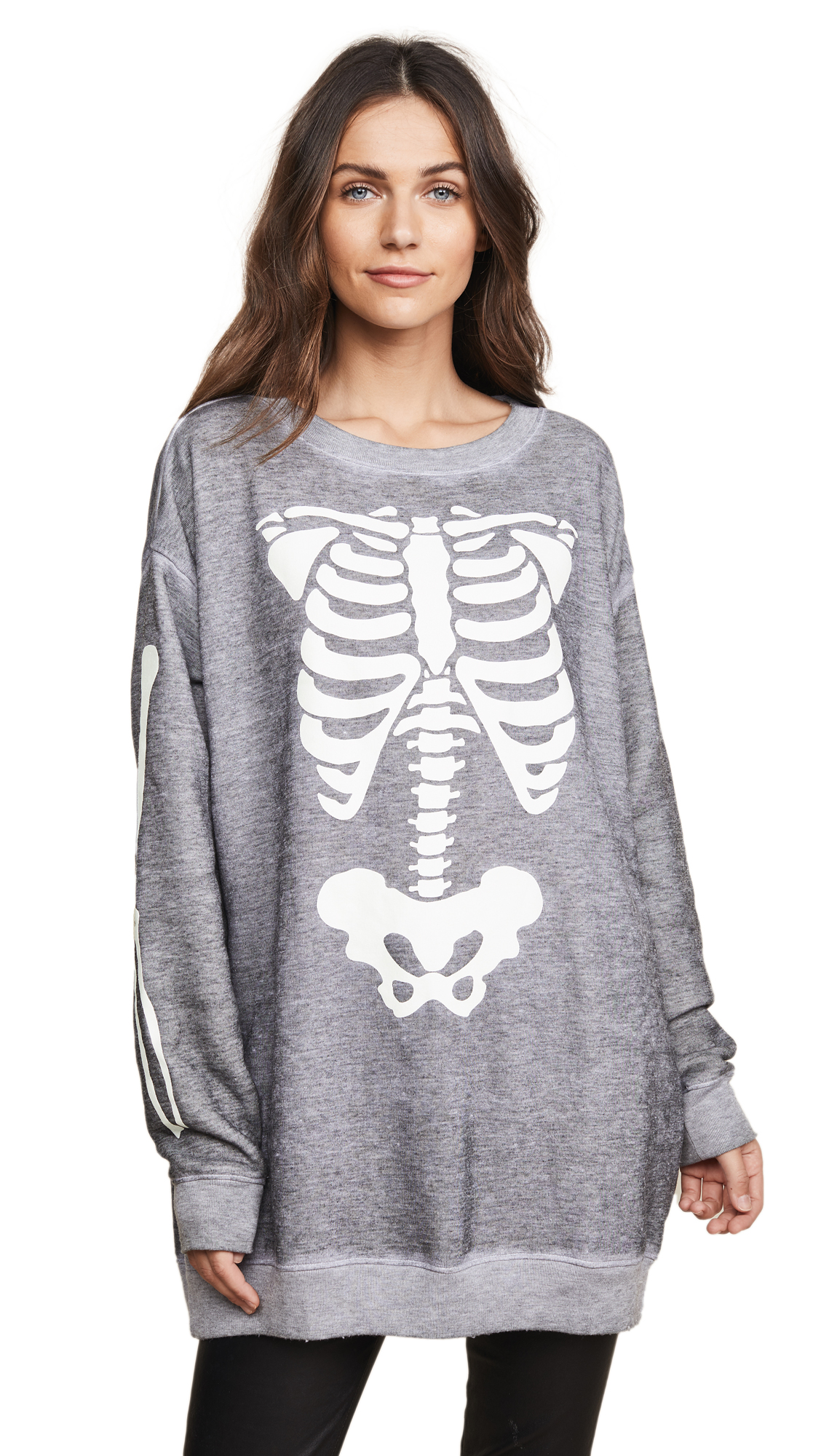 Wildfox X Ray Vision Sweatshirt In Heather
