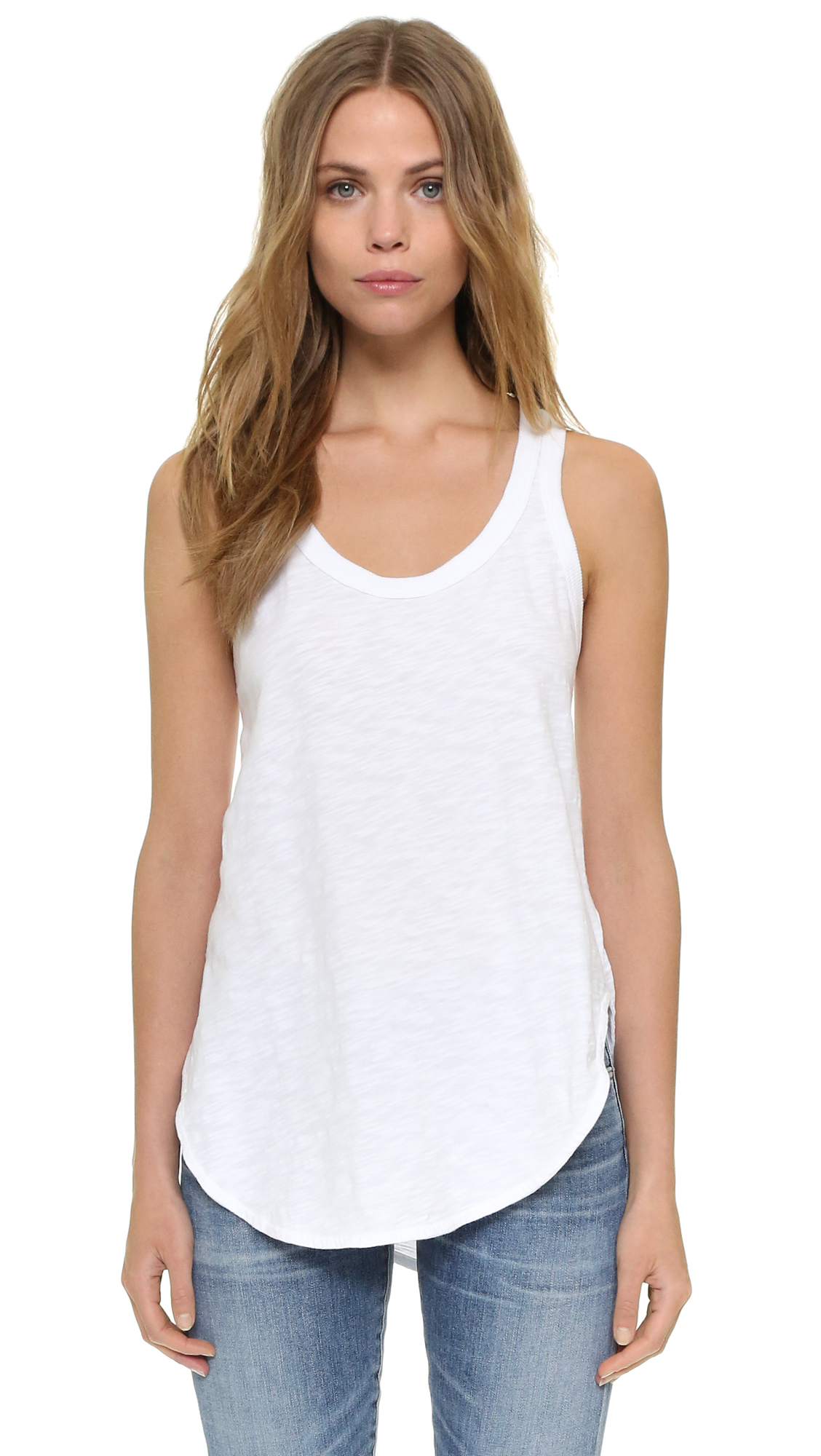 Wilt Shrunken Tank In White