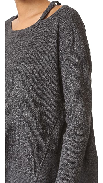 Wilt Open Neck Thermal Slouchy Top