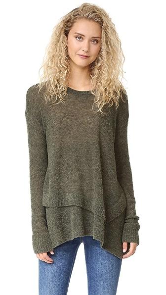Wilt Mock Layered Tunic Sweater - Bottle