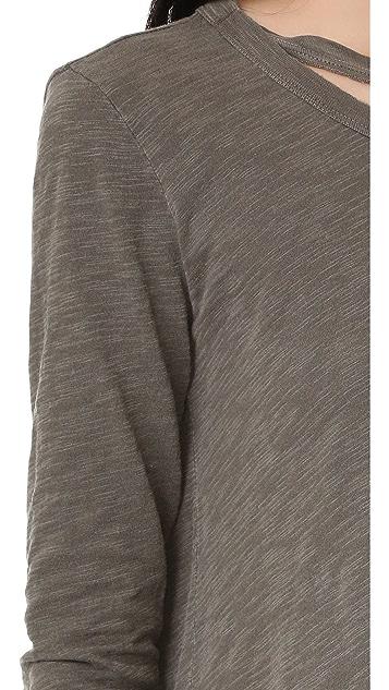 Wilt Raw Edge Double Neck Pullover