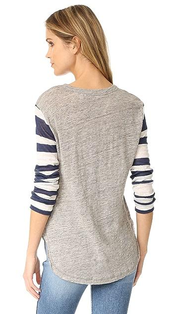 Wilt Stripe Mix Shirttail Tee