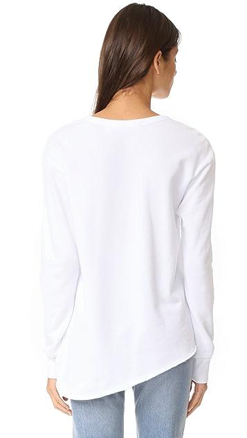 Wilt Big Raw Seamed Mixed Sweatshirt