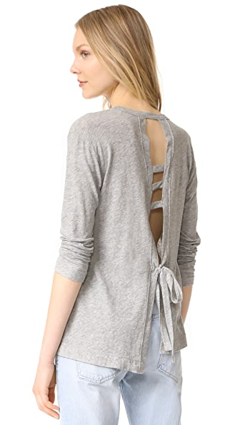 Wilt Open Back Pullover - Grey Heather