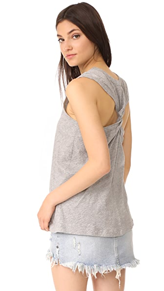 Wilt Twist Tank In Grey Heather