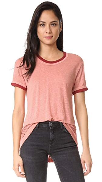 Wilt Easy Color Contrast Tee In Parchment/Brick