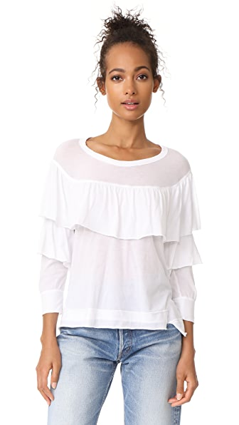 Wilt Ruffled Shifted Top - White