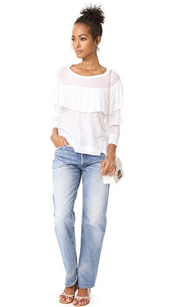 Wilt Ruffled Shifted Top