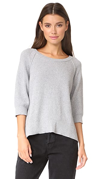 Wilt Shrunken Thermal Sweater - Grey Heather